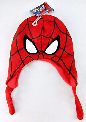 The Amazing Spider-Man Winter Hat Full Mask Boys Size 2-4 Brand New RED FACE