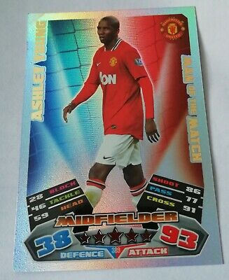 Match Attax 2011 2012 Ashley Young Man Of The Match #389 Manchester United