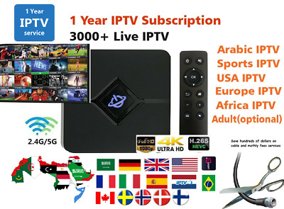 2018 ARABIC IPTV 1080p HD TV Box 2G/16G WiFi Internet / Free 2 Years