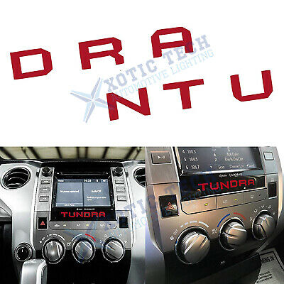 Red Radio Dashboard Letters Interior Decals Vinyl for Toyota Tundra 2014-2019
