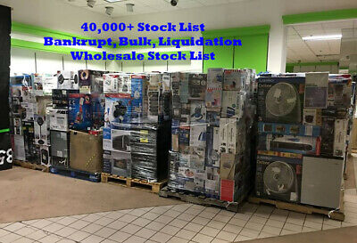 40000+ Double List   Wholesale List   Bankrupt Stock   2x Guides to Dropshipping