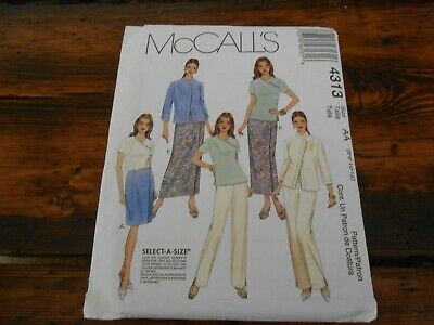 OOP McCALLS 9176 MS Tunic Top Pants Shorts Skirt PATTERN 8-10-12-14-16-18-20 UC