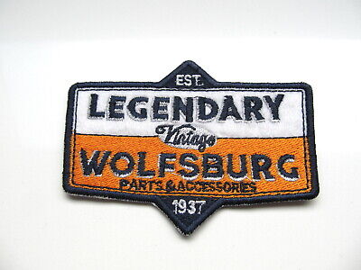 + VOLKSWAGEN VW Aufnäher / Patch / Sticker LEGENDARY WOLFSBURG