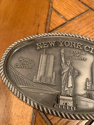 VTG New York City Twin Towers Statue Of Liberty  Candy Dish Tray Souvenir
