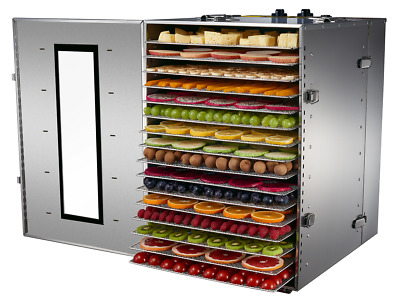 Bench Foods 16-CU Premium Commercial Food Dehydrator | 16 Tray - 2.56m²