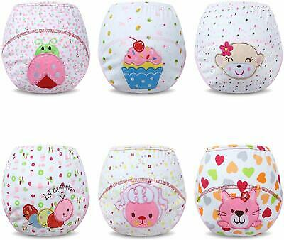 Reusable Potty Training Pants Cotton Machine Washable Pack of 6 Pink 2-3 Years