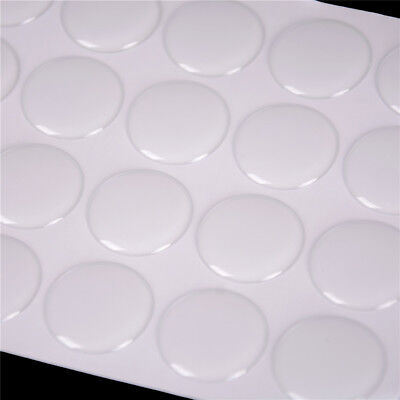 "100Pcs 1"" Round 3D Dome Sticker Crystal Clear Epoxy Adhesive Bottle Caps  SJF Fs"