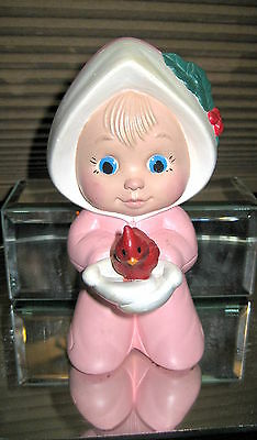 Gorgeous Hand Painted Sweet Tots Winter Babies OOAK Baby Pink Snow Suit Red Bird