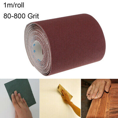 "Tear 4"" Wide 80-800 Grit  Grinding Polishing Tools  Sandpaper Emery Cloth Roll"