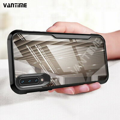 For Samsung Galaxy A50 A70 A20 A30 Armor Case Rugged Cushion Clear Back Cover