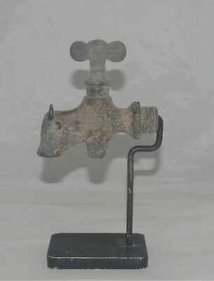 Antique Folk Art Figural Spigot Faucet Steer Bull Cow Industrial Plumbing