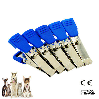 5Pcs EKG/ECG Alligator Electrode Clip Veterinary Animals For Snap Cable FDA CE