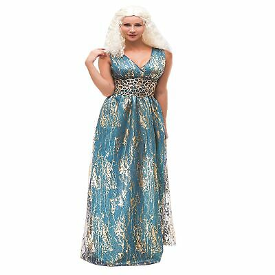 K360 Game of Thrones Daenerys Targaryen Yunkai Blue Dress Gown Cosplay Costume