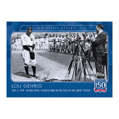 LOU GEHRIG (SP) - 2019 Topps 150 YEARS OF BASEBALL #53 - NEW YORK YANKEES