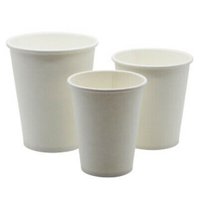 Disposable Recyclable Paper Cups Eco-Friendly Great for Tea, Coffee, NO LIDS