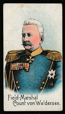 """Hill's Cigarette Cards """"Colonial Troops"""" c1900  """"Field Marshall Count Waldersee"""""""