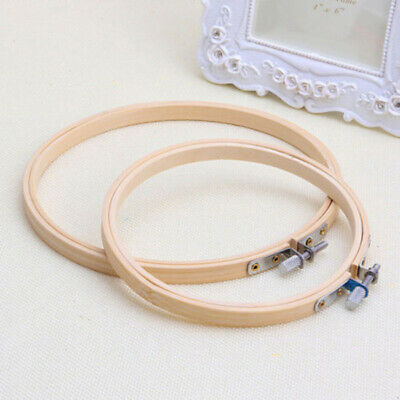 Frame Art Cross Stitch Hoop Hand Embroidery Wooden-Sewing Diy Ring Round Bamboo
