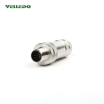 M12 8 pin Direct Shielding Male Sensor Connector Industrial Accessories