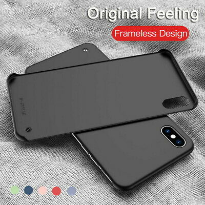 Frameless Matte Slim Simple Solid Color Ultra Thin Hard PC Back Phone Case Cover