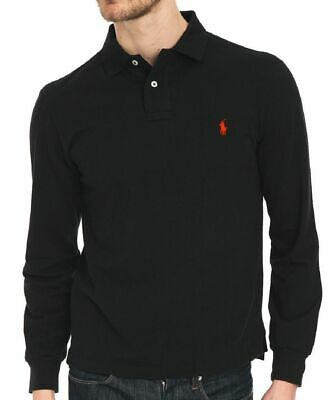 MENS Ralph Lauren Polo T-Shirt Long Sleeve Custom Fit Sizes Mens Polo Top BNWT