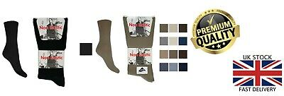 New Men's 12 Pack Aler Cotton Rich Lycra Non Elastic Plain Office Sock UK 6-11