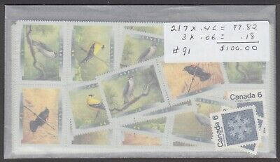 Canada Mint Nh Postage Lot $100.00 Face For $70.00 See List #91