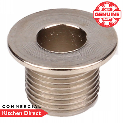 """*Genuine Part* Roller Grill Drain Hole Ring Male 3/8"""" - E02059"""