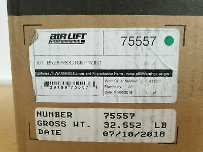 "Air Lift 75557 strut air suspension 4.3"" front drop kit fits 2012-19 subaru BRZ"
