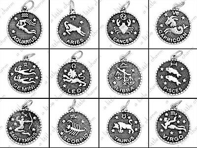 [HSM2] Jewelry Charms - Silver Zodiac Constellation Charms