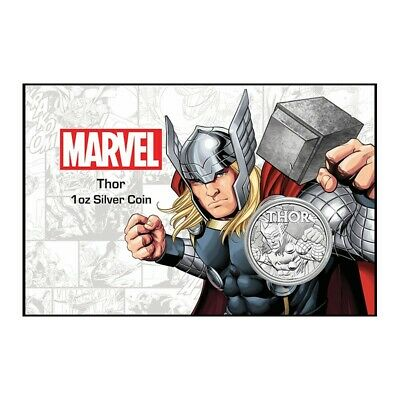 TUVALU 1 Dollar Argent 1 Once Thor Card 2018