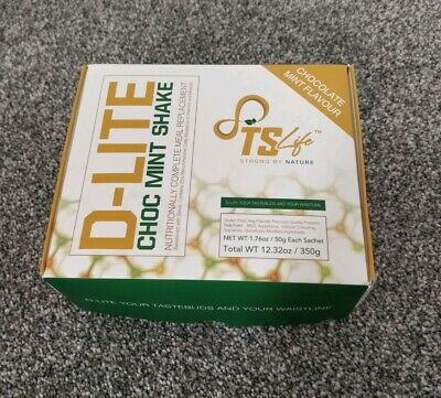 TS Life D-lite Choc Mint Meal Replacement Weight Loss Shake 1 Week Supply