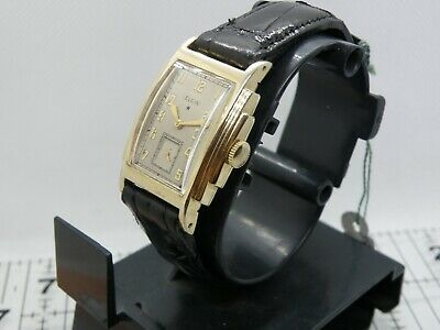 1930`s ELGIN ART DECO STEPPED CASE MAN`S STUNNING  WATCH...AWESOME DIAL