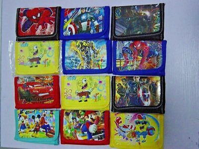 NEW Kids Children Boys Girls Cartoon Character Zip Wallet Coin Purse Bag Gifts
