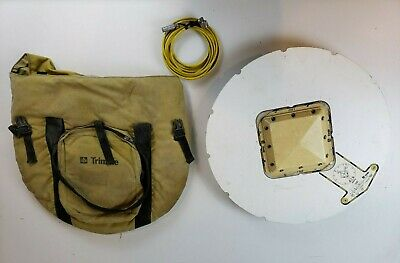 Trimble Micro Centered L1-L2 GPS Geodetic Antenna W/ Ground Plane, Cable and Bag