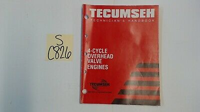 Tecumseh OEM 695244a Technician's Handbook for 4-Cycle Overhead Valve Engine