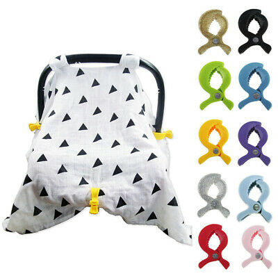 Baby Car Seat Accessories Toys Lamp Pram Stroller Peg To Hook Cover Blanket Clip