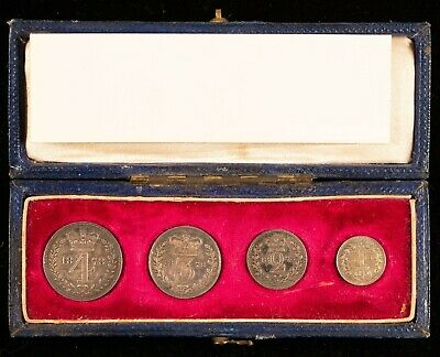 1878 Great Britain Maundy 4 Coin Set