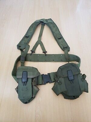 US Military Issue Alice Field Gear Belt Suspenders Ammo Pouches Set Lot