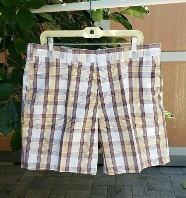 Nwt Vintage Jc Penney Plaid Shorts Men Size 38