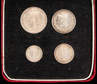 1872 Great Britain Maundy 4 Coin Set