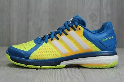 a420cb6fe2 43 New Adidas Men's Energy Boost Tennis Shoes Size 9 AQ2294 Blue Yellow