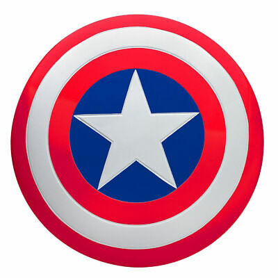 Captain America Shield Lightweight Plastic Shield Red White Blue Star Cosplay
