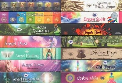 """""""YOU CHOOSE"""" From Over """"33 Fragrances"""" Green Tree Masala Incense Sticks 15gm ॐ"""