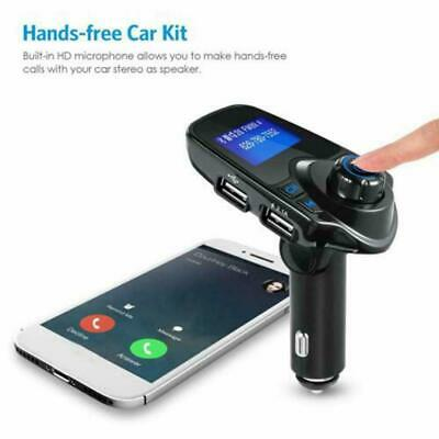 FM Transmitter Wireless Bluetooth Car Kit MP3 Player Adapter Radio Charger V8M5