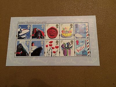GB 2010 Business Customised Smilers Stamps - Miniature Sheet - MNH Mint Unfolded