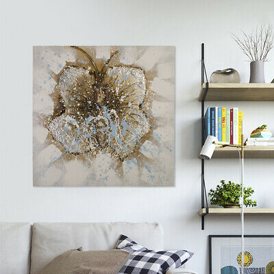 Handmade Abstract Oil Painting Butterfly on Canvas Wall Art Home Decor Framed