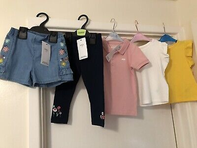 M&S Baby Girl 12-18 Bundle All Bn 5 Items T-Shirt Shorts Leggings Marks Spencer