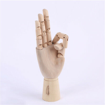 Wooden Hand Model Sketching Drawing Jointed Movable Fingers Mannequin  Fs