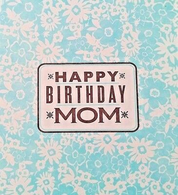 MOM Birthday Greeting Card UNUSED Letterpress Mother Mama Flowers hellolucky