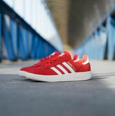 A rare pair of Liverpool themed Adidas Trimm Trabs are on